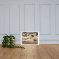 Crashing Ashore Coastal Nature Photo Framed Wall Art Print White / 18×24 - PIPAFINEART