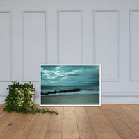 Blue Morning at Rehoboth Coastal Landscape Framed Photo Paper Wall Art Prints White / 24×36 - PIPAFINEART