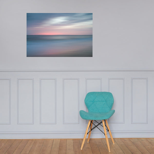The Colors of Evening on the Beach Landscape Photo Loose Wall Art Prints 24×36 - PIPAFINEART