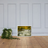 Waterfalls in the Autumn Foliage Landscape Framed Photo Paper Wall Art Prints White / 18×24 - PIPAFINEART