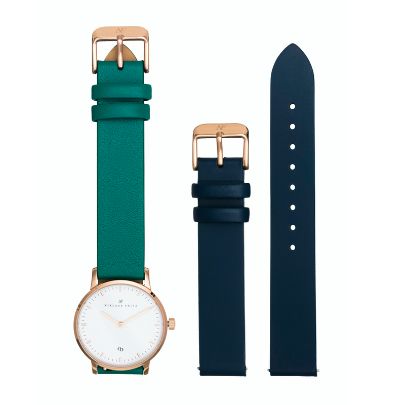 Rose Gold Kit - Green + Navy