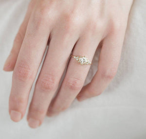 Elegant Gold Goddess Ring