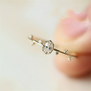 Little Crystal Twig Ring