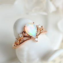 Load image into Gallery viewer, Copper Plated Zircon Moonstone Ring