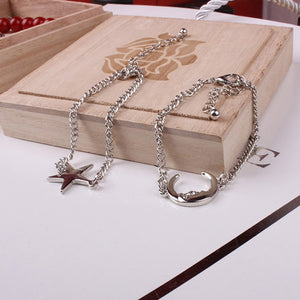 Star & Moon Pair Bracelets