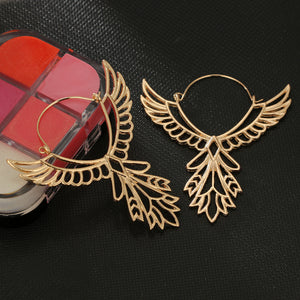 Phoenix Wings Hoop Earrings