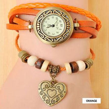 Load image into Gallery viewer, Heart Vintage Wrap Watch