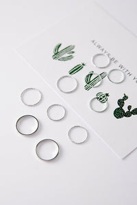 Simple Design Joint Rings (10pc set)