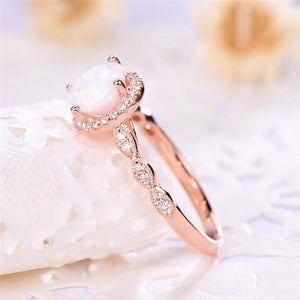 Luxury Rose Gold Shining Ring