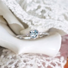 Load image into Gallery viewer, Blue Crystal Engagement Ring
