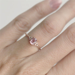 Pink CZ Engagement Ring