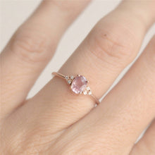 Load image into Gallery viewer, Pink CZ Engagement Ring