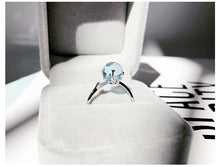 Load image into Gallery viewer, Ocean Blue Mermaid Sterling Silver Ring