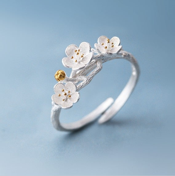 Cherry Blossom Flower Branch Ring