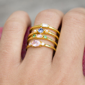 4PCS Fashion Rings