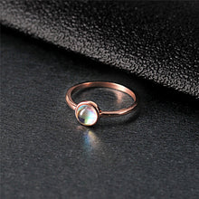 Load image into Gallery viewer, Charm Round Opal Rose Gold Ring