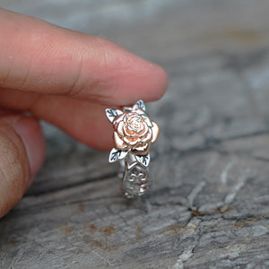 Elegant Rose Flower Ring