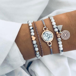 4pcs/set Bohemian Women Bracelet