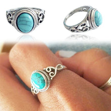 Load image into Gallery viewer, Antique Turquoise Natural Gemstone  Ring