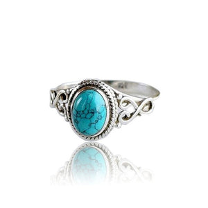 Antique Turquoise Natural Gemstone  Ring