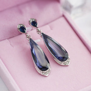 New Fashion Purple Crystal Earrings Rhinestone