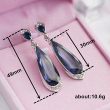 Load image into Gallery viewer, New Fashion Purple Crystal Earrings Rhinestone