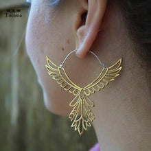 Load image into Gallery viewer, Phoenix Wings Hoop Earrings