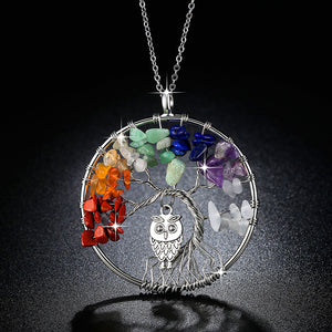 Natural Stones and Minerals Life Tree Necklace