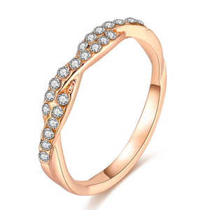 Rose Gold Silver Ring