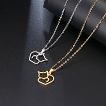 Load image into Gallery viewer, Gold And Silver Color Cat  Necklace