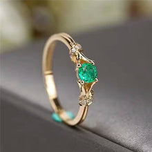 Load image into Gallery viewer, Small Green Zircon Stone Ring