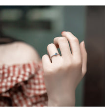 Load image into Gallery viewer, Dainty Natural Moonstone  Silver Ring