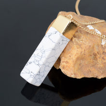 Load image into Gallery viewer, Marbled Stone Geometric Necklace