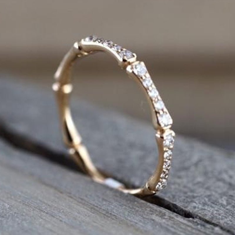 Simple Micro Paved Chic Ring