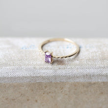 Load image into Gallery viewer, Dainty Amethyst Ring