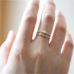 Dainty Crystal Stackable Finger Ring