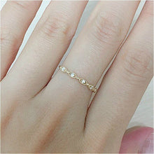 Load image into Gallery viewer, Dainty Crystal Stackable Finger Ring