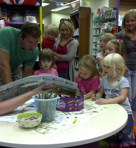 Captive audience at Waterstones