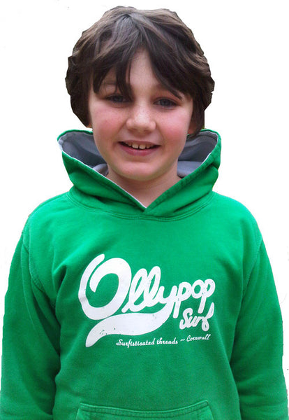 Kids surf hoody Ollypop (Kelly Green)