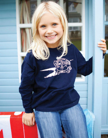 Kids Surf Long Sleeve T-Shirt Ollypop (Navy)