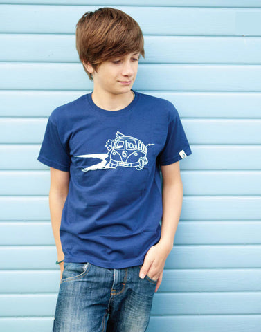 Kids Surf Short Sleeve T-Shirt Ollypop (Navy)
