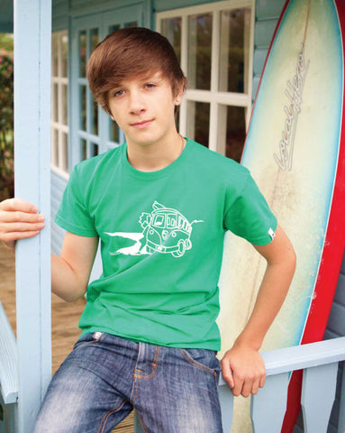Kids Surf Short Sleeve T-Shirt Ollypop (Kelly Green)