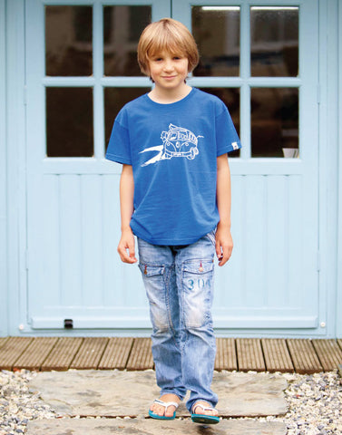 Kids Surf Short Sleeve T-Shirt Ollypop (Royal Blue)