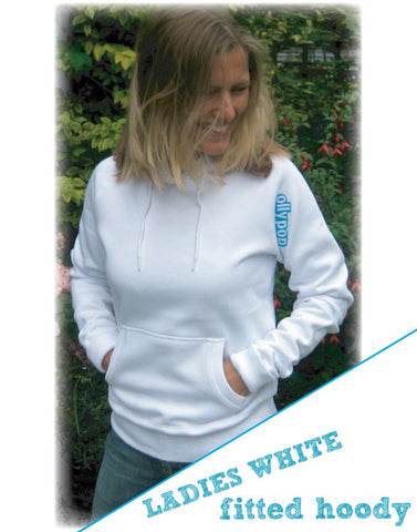 Ladies Fitted Hoody Ollypop (White)