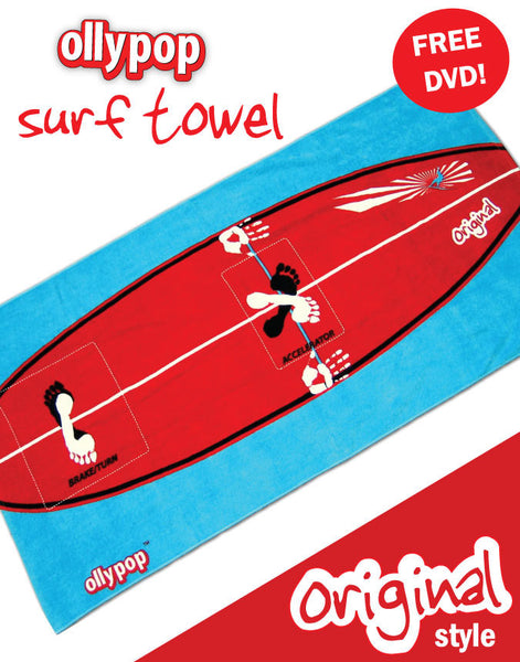 Ollypop Surf Towel (Original) & DVD - 2 in 1 cool beach towel
