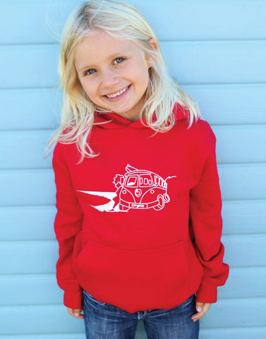 Kids Camper Van Surf Hoody Ollypop (Red)