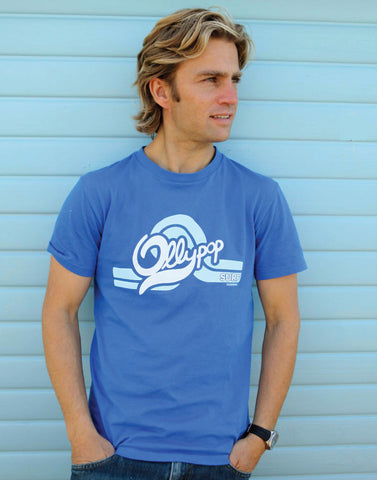 Mens Retro Ollypop Surf T (Royal Blue)