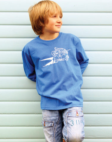 Kids Surf Long Sleeve T-Shirt Ollypop (Royal Blue)
