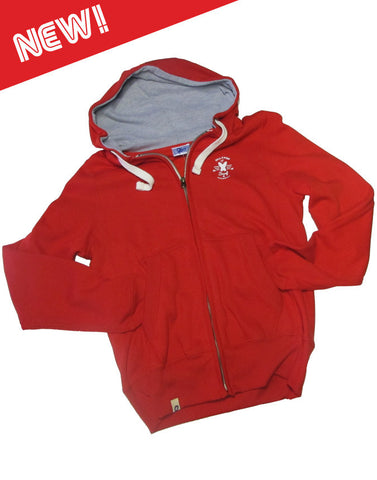 Ollypop Unisex Zip Hoody Fire Red