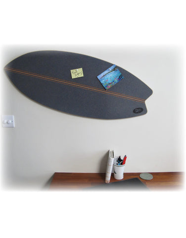 Surfboard Pin Board  - Slate Blue Cork
